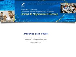 Docencia en la UTEM: Referentes Iniciales