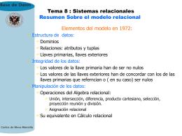 8. Sistemas relacionales.