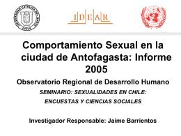 (2005) Comportamiento sexual en la ciudad de Antofagasta