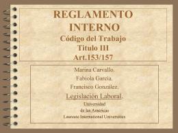REGLAMENTOS INTERNOS - Trabajo Social UDLA