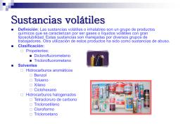 Sustancias volátiles ficha tecnica