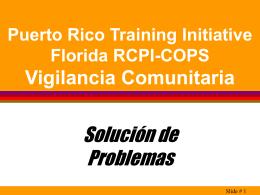 Solución de Problemas - Florida Regional Community Policing