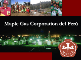 Maple Gas Corporation - Ministerio de Energía y Minas