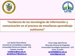 Ponencia 1 - TIC.EC 2015
