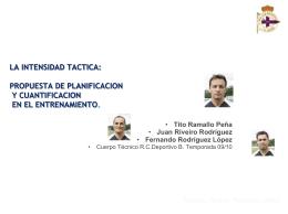 LA INTENSIDAD TACTICA: PROPUESTA DE - G-SE
