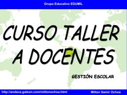 Gestión Escolar Milton Samir Ochoa Eduardo Guevara López