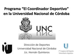 Programa El Coordinador Deportivo