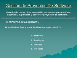 Gestión de Proyectos - Calidad del software