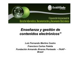Enseñanza y Gestion Contenidos Electr