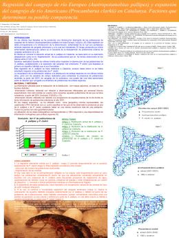 (Austropotamobius pallipes) y expansión del cangrejo de río