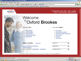 Implementing e-learning strategy at Oxford Brookes