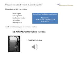 Qué espera una víctima de policía - Asociación de Mujeres contra la