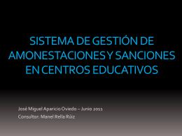 SISTEMA DE GESTIÓN DE AMONESTACIONES Y SANCIONES EN