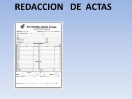 trabajo normativa de actas