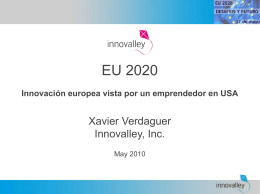 Europa 2020 e innovación. Presentación de Xavier Verdaguer