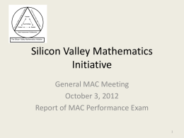 part 1 - Silicon Valley Mathematics Initiative