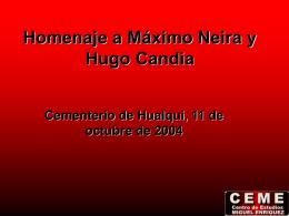 Homenaje a Máximo Neira y Hugo Candia