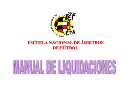 Manual de Liquidaciones - Comité de árbitros de fútbol fútbol sala