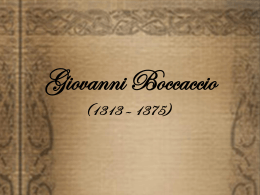 Boccaccio y el Decamerón