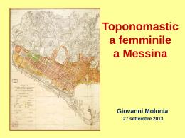 ppt dott. Giovanni Molonia - Università degli Studi di Messina