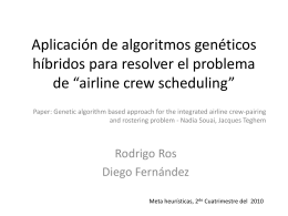 Introducción al problema Airline Crew Scheduling Problem