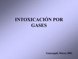 INTOXICACIÓN POR GASES