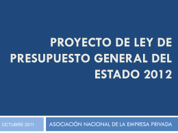Diapositiva 1 - Asociación nacional de empresa privada