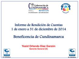 gestion_beneficencia_2014 - Beneficencia de Cundinamarca
