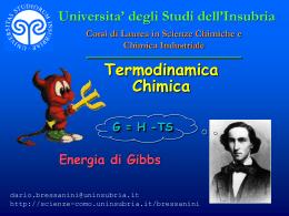 Energia di Gibbs - ITIS Cannizzaro
