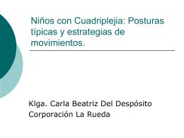 Niños con Cuadriplejia: Posturas típicas y estrategias de movimientos.