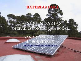 TV SEC BATERIAS 2 - Proyecto de Energía Renovable