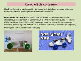 Carro eléctrico casero.