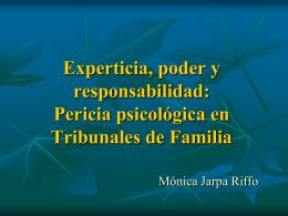 Pericia psicológica en Tribunales de Familia