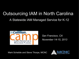 Outsourcing IAM In North Carolina
