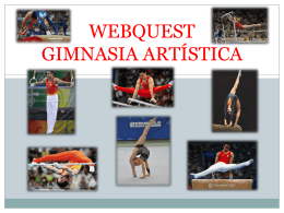 Webquest gimnasia artística (powerpoint)