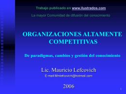 Organizaciones Altamente Competitivas: De