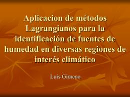 Identificación dinámica de la fuentes de humedad