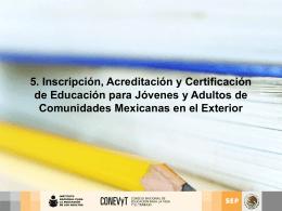 5. Registro, Acreditación y Certificación