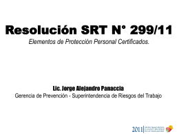 Resolución SRT N°299/11