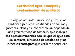 La química como indicadora del flujo de agua subterránea