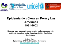 La epidemia de cólera en Perú y las Américas