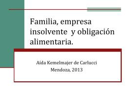 Familia, Insolvencia y alimentos