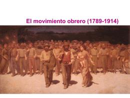 1.- El movimiento obrero