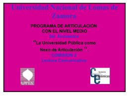Comision 2 PRESENTACION - Universidad Nacional de Lomas de