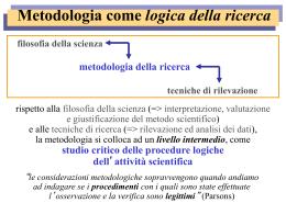 1. Il lavoro di ricerca nelle scienze sociali