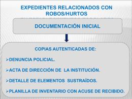 PRESENTACIÓN ROBOS-HURTOS 97-2003