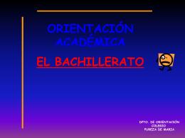 Presentación 4º de ESO - Colegio Pureza de María – Grao