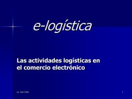 e-logística - Capacitarte UBA