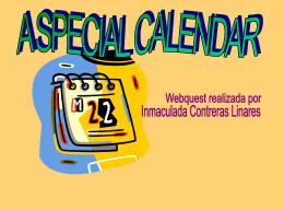 A special calendar