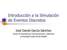 Introducción a la simulación de eventos discretos